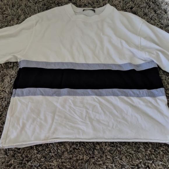 Brandy Melville Tops - Brandy Melville Long sleeve Blue and white shirt